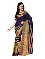 Purple Color Cotton Blend Saree ( Lubina )