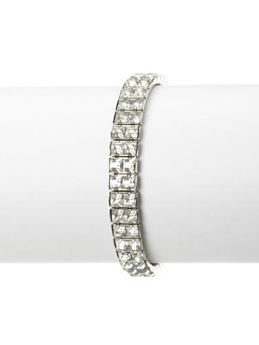Lulu Frost 1920's Art Deco Double Strand Bracelet, Silver