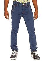 Altran 5294CH Men's Cotton Stretch Narrow Jeans in Prussian Blue (Size:- 30)