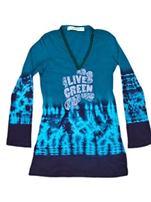 Custo Vestido Seven Baby (azul petróleo / azul marino)