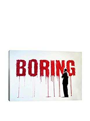 Banksy Boring Gallery Wrapped Canvas Print