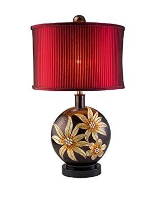 ORE International Golden Demeter 1-Light Table Lamp, Gold