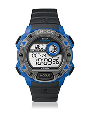 TIMEX Reloj de cuarzo Man Expedition Base Shock Negro / Azul 45 mm