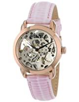 August Steiner Women's AS8033RG Skeleton Automatic Strap Watch