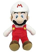 """Sanei Super Mario All Star Collection 9.5"""" Fire Mario Plush, Small"""