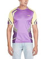 Li-Ning ATSH367-5 Round Neck Badminton T-Shirt, XXX-Small (Purple)