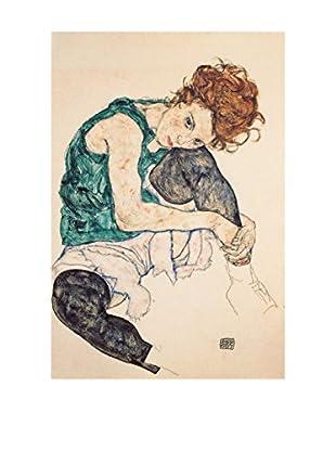 Legendarte Lienzo Egon Schiele - Donna Seduta Con La Gamba Piegata