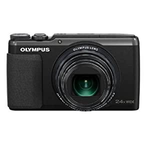 Olympus SH-50 16MP Point and Shoot Camera (Black) with 24x Optical Zoom, Memory Card , Camera Case and HDMI Cable