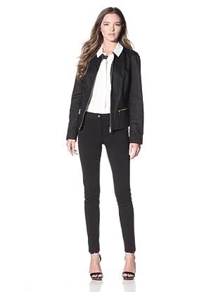 Calvin Klein Women's Zip-Front Jacket (Black)