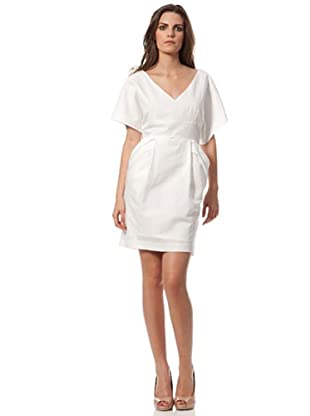 Caramelo Vestido Clásico (blanco)