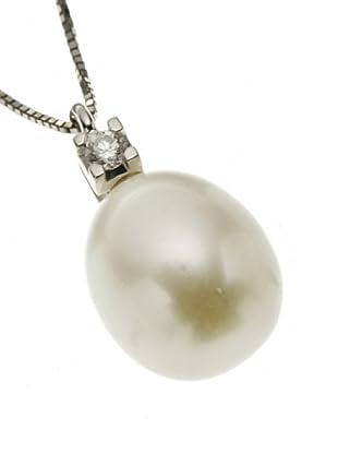 Emi Kawai Kette Weißgold 18k Brillant Perle 8,50 mm