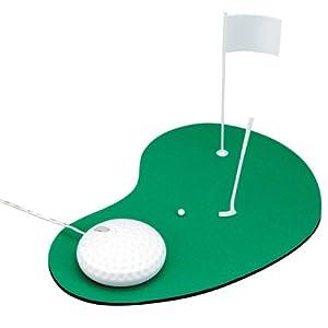 【クリックで詳細表示】GREEN HOUSE ゴルフボール型光学式USBマウス&マウスパッド GH-MUSG-W: パソコン・周辺機器
