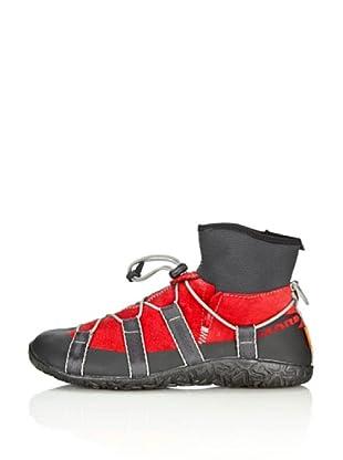 Lizard Zapatillas Kross Leather Mid (Rojo)