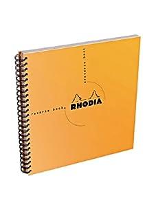Rhodia Set of 5 Graph Reverse Standard Notebooks (Orange)
