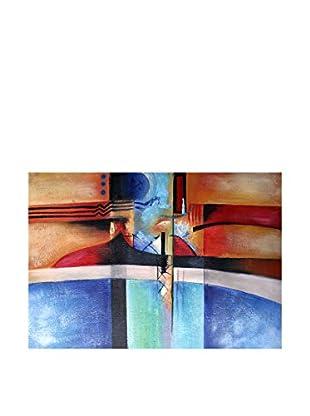 LegendArte Pintura al Óleo sobre Linezo Elementi Naturali 60X90 Cm