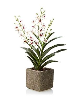 Lux-Art Silks Aranda Orchid Pot