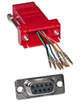 Offex OF-31D1-1740RD Modular Adapter, Red, DB9 Female to RJ45 Jack