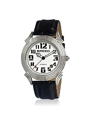 Breed Men's BRD1301 Strauss Black/White Leather Watch