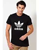 Black Adi Trefoil Crew Neck T Shirts