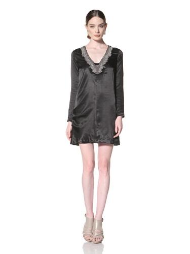Twinkle By Wenlan Women's Brave Beauty Dress (Black/Silver Beading)