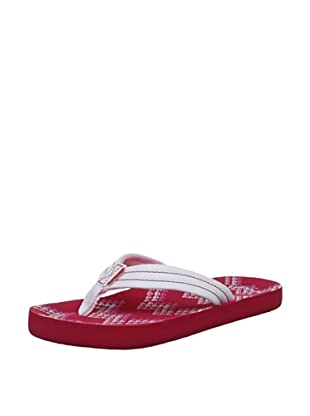 Reef Chanclas Little Casual (Rojo/Blanco)