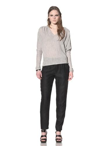 Rogan Women's Sabi Raw-Edge Sweater (Light Grey)