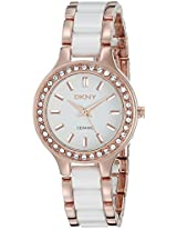 DKNY Analog White Dial Women's Watch - NY8141