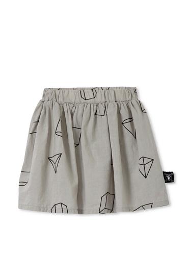 NUNUNU Kid's Geometry Skirt (Heather Grey)