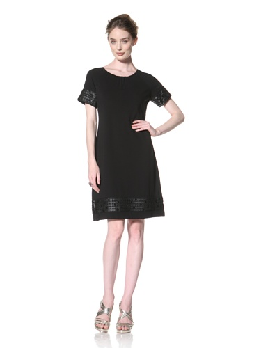 Taylor Dress Women's Short Sleeve Jersey Dress (Black)