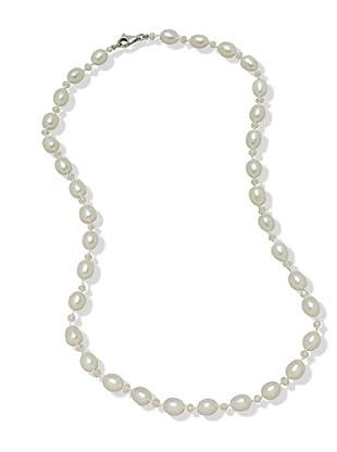 Valero Pearls 474510 - Collar de mujer de plata con perla cultivada de agua dulce, 43 cm