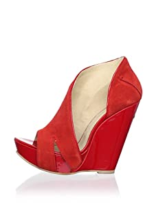 C'N'C CoSTUME NATIONAL Women's Open-Toe Wedge Boot (Red)