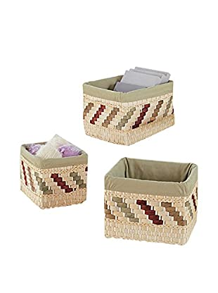 Organize It All Set of 3 Twist Baskets with Liner