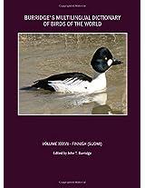 Burridge's Multilingual Dictionary of Birds of the World: v. 37