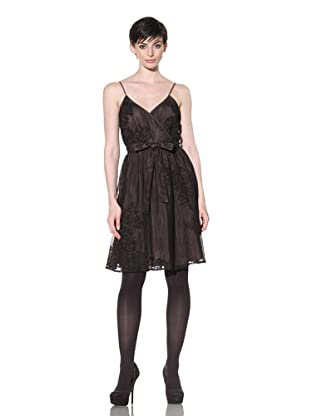 Project Alabama Women's Spaghetti Strap Embroidered Dress (Black)