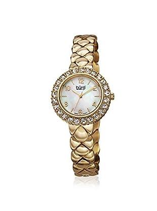 Burgi Women's BUR113YG Swarovski Crystal Gold-Tone/White Stainless Steel Watch