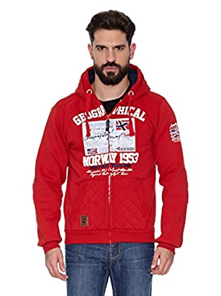 Geographical Norway Sudadera Gantain Men 100 (Rojo)