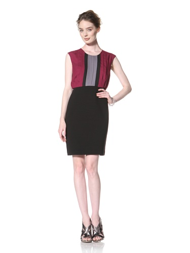 Taylor Dress Women's Color Block Dress (Gem/Black)
