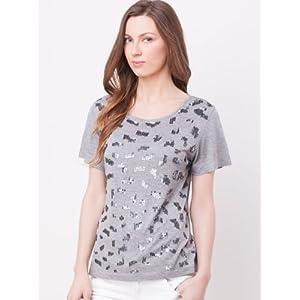 Sequin Pattern Short Sleeve T-shirt