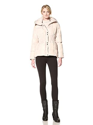 Via Spiga Women's Napoli Down Jacket with Faux Fur Trim Hood (Beige)