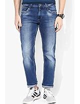 Blue Mid Rise Slim Fit Jeans Killer