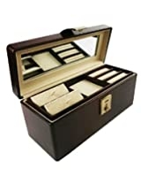 Uberlyfe Jewellery/Accessories Box with Mirror and One Clasp Lock(Bank Locker Size) - Bestseller