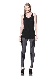 David Lerner Women's Tess Leggings (Steel Blue/Black)