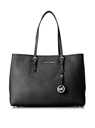MICHAEL Michael Kors Women's Jet Set Travel Large East/West Tote, Black