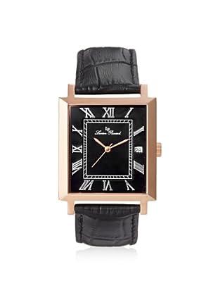 Lucien Piccard Men's 10501-RG-01 Bianco Black Leather Watch