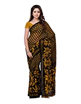 Ambaji Black Coloured Dani Georgette Printed Saree