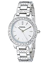 Fossil Jesse Analog White Dial Women's Watch - ES2362