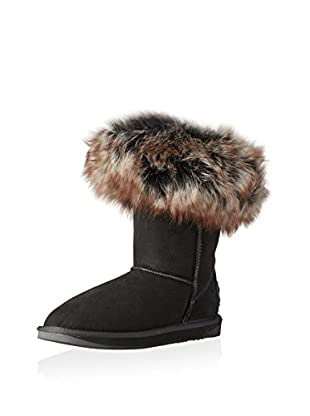 AUStralia Luxe Collective Womens Foxy Shearling Short Short Shearling Fur Trimmed Boot (Black)