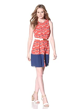 PJK Patterson J. Kincaid Women's Dakota Button Dress (Red Multi)