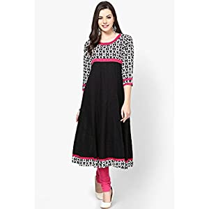 Black Embroidered Anarkali Aks