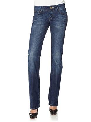 Cross Jeans Pantalón Vaquero Carmen Slim Fit Low Rise (Azul Oscuro)